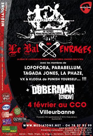 DOBERMAN [crew] + LE BAL DES ENRAGES @ Villeurbanne